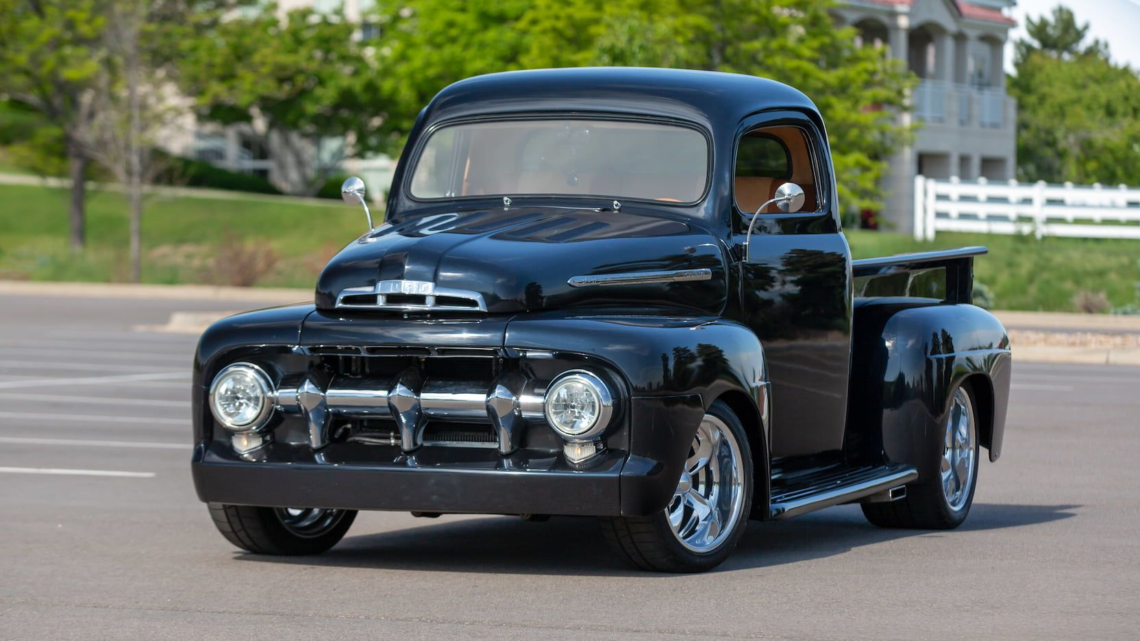 1951 Ford F1 Pickup Presented As Lot F127 At Denver Co Classic Ford Trucks American Racing Wheels Ford Trucks