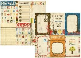 Simple Stories Elementary 4x6 Vertical Journaling Cards. Sold in 12x12 sheet singles