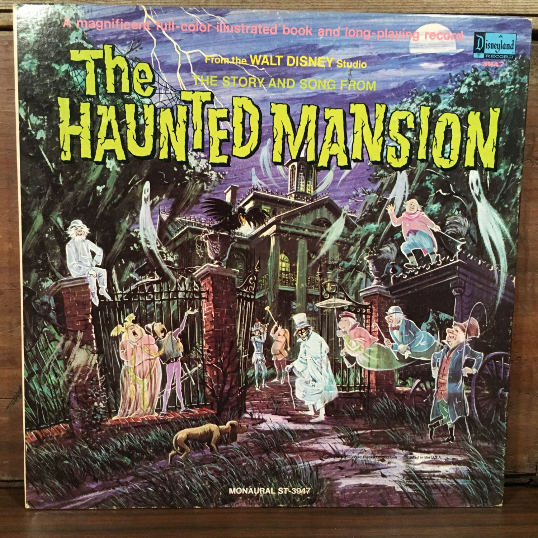 Walt Disney's The Haunted Masion Vinyl LP Mono 1969 Disneyland Illustrated Book and Record Original Story & Song Halloween by vintagebaron on Etsy