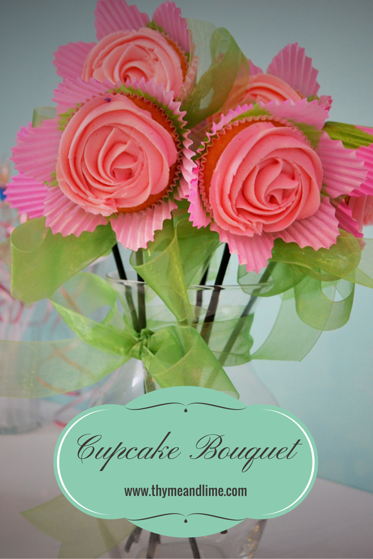 Sweet and simple cupcake bouquet diy akt cupcakes design flower cupcakes izmirmasajfo Image collections