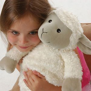 Aroma Home Hot Hugs Lamb Microwave Heated Wheat Bag Plush Animal Hottie Soft Toy
