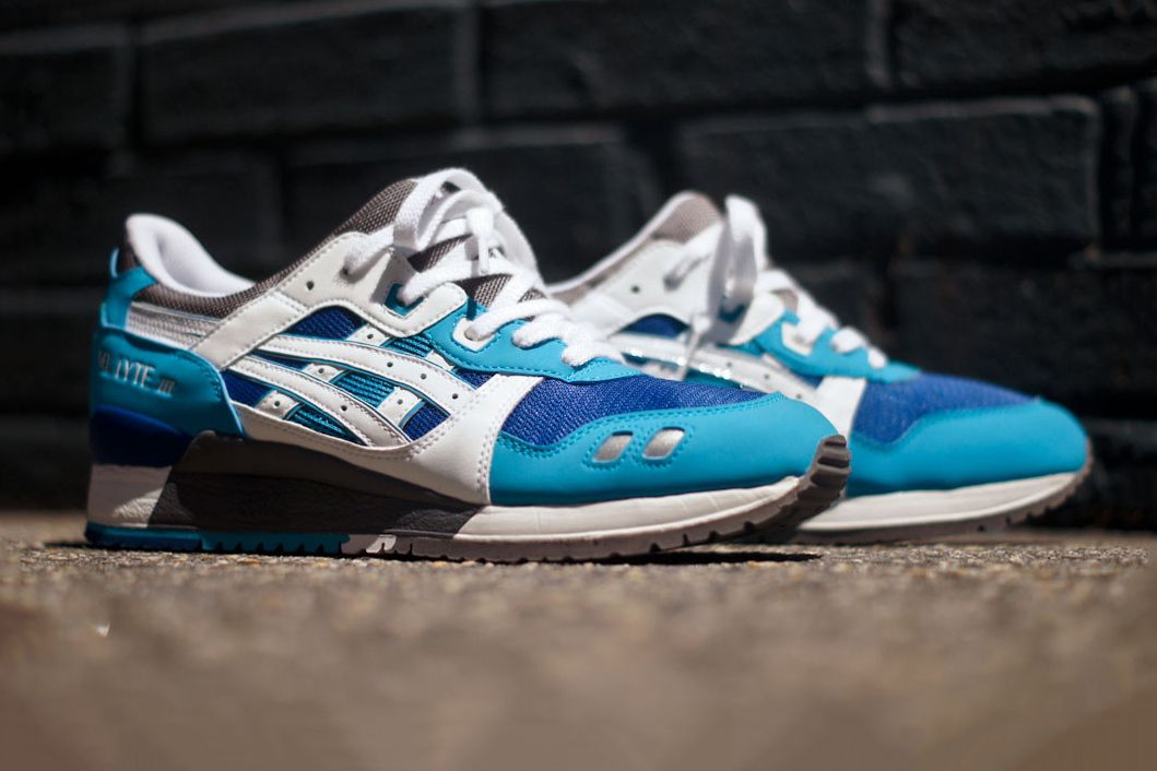Asics Gel Lyte Iii Blue White Kith Exclusive Asics Gel Lyte Iii