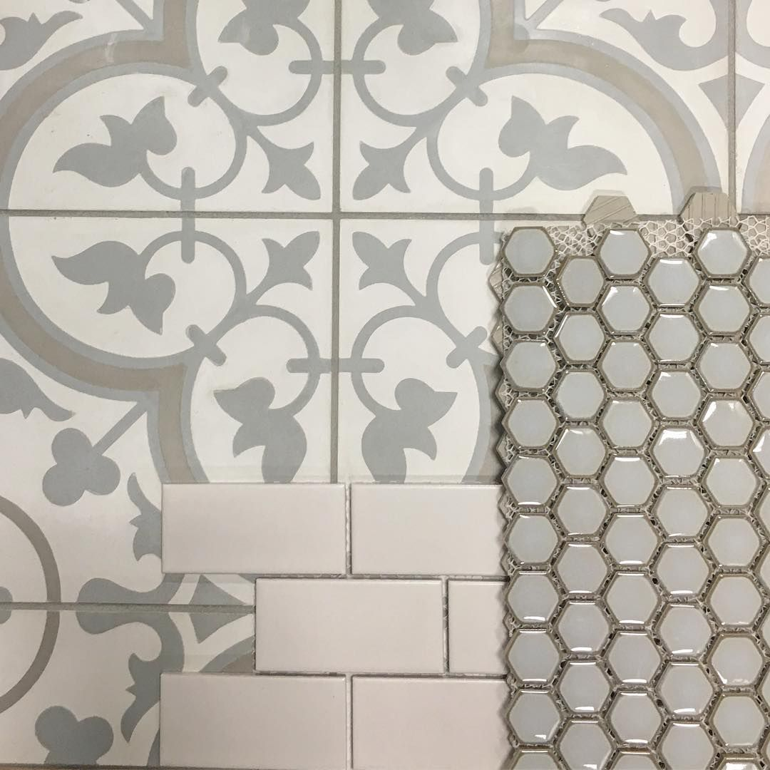 Cheverny Blanc Encaustic Cement Wall And Floor Tile 8 X