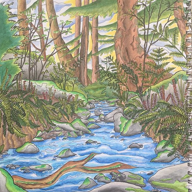 Legendary Landscapes With Polychromos Legendarylandscapes Adultcoloring Adultcoloringbook Adultcolouringbook Coloringbook Coloringforadults
