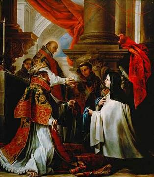 St. Teresa of Avila Receiving Holy Communion by Claudio Coello