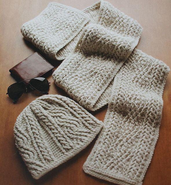 Free Pattern] Crochet - Alpine Cables | bufandas | Pinterest ...