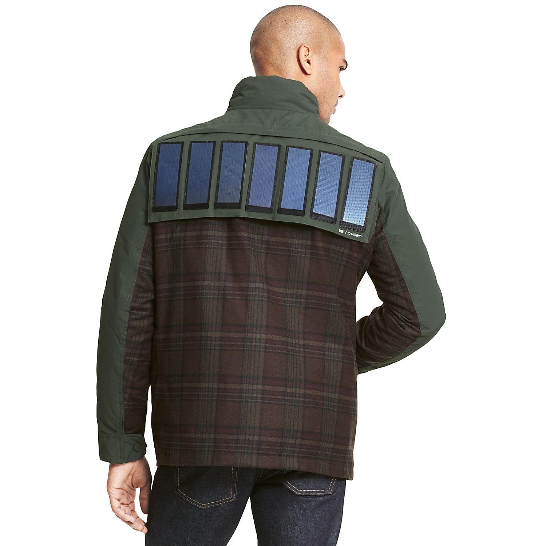 Tommy Hilfiger Solar Panel Jacket for Men: Removable solar