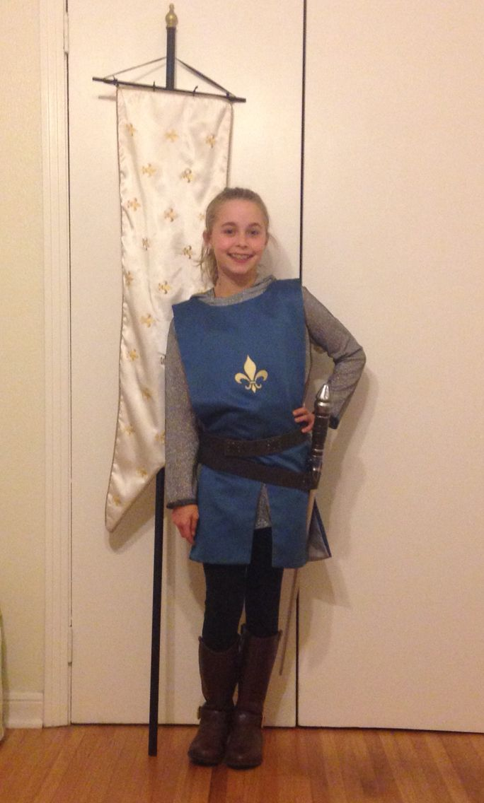 The Joan Of Arc Costume I Made For For My Niece Joan Of Arc