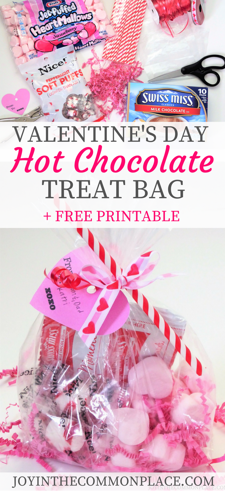 Valentine S Day Hot Chocolate Treat Bag Or Party Favor