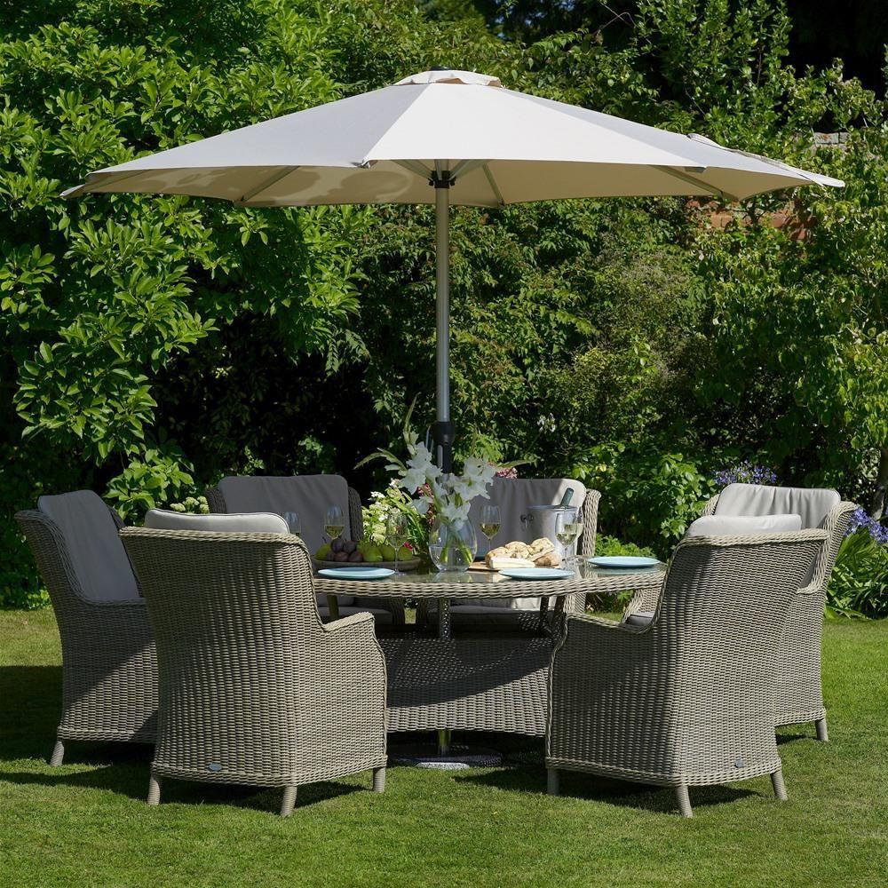 Bramblecrest oakridge elliptical seat rattan garden furniture set