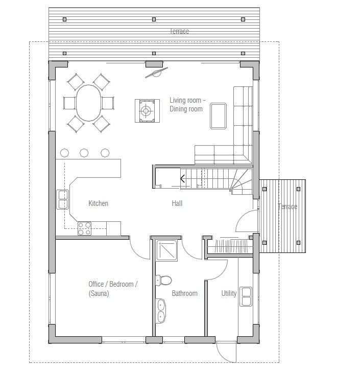 small house plan ch20 floor plans 3d images and building info house plan - Small Houses Plans