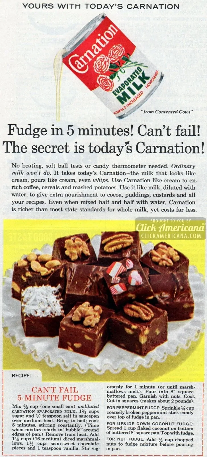 Classic Can T Fail 5 Minute Fudge Recipe Fudge Recipes Evaporated Milk Recipes Milk Recipes