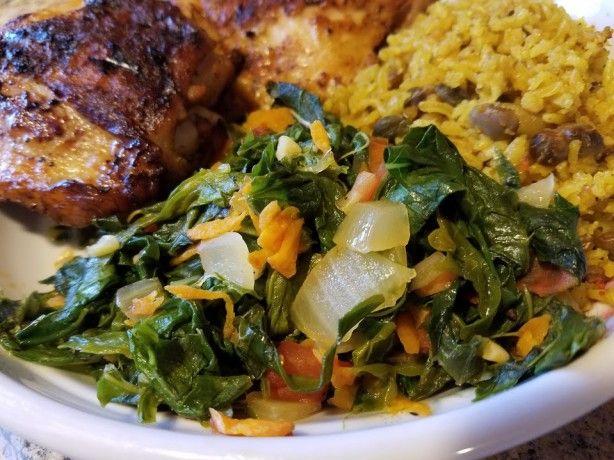 stewed callaloo  recipe  jamaican recipes callaloo