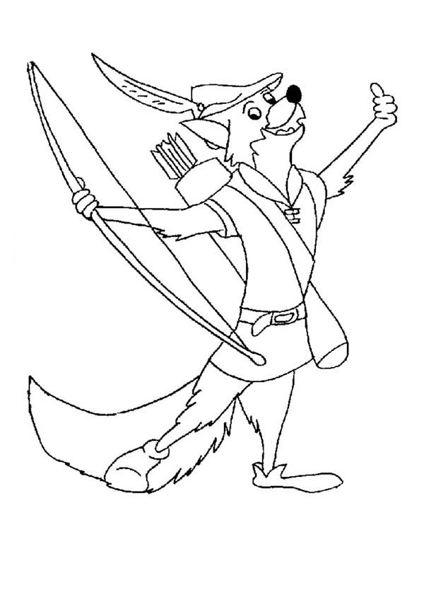 Drawing Robin Hood Coloring Pages Best Place To Color Di 2020