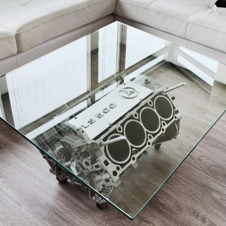 Found On Touch Of Modern By Ri Craft V8 Mercedes Cls 500 Coffee Table Coffee Table Engine Coffee Table Automotive Decor