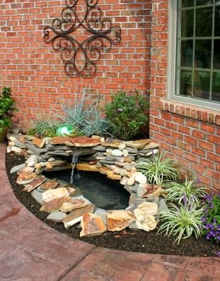 How to Make Your Own Garden Pond with a Waterfall El estanque de - cascada de pared