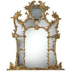 A George III Giltwood Overmantel Mirror (445779)