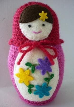 Russian Matryoshka Babushka Doll Crochet Pattern ...
