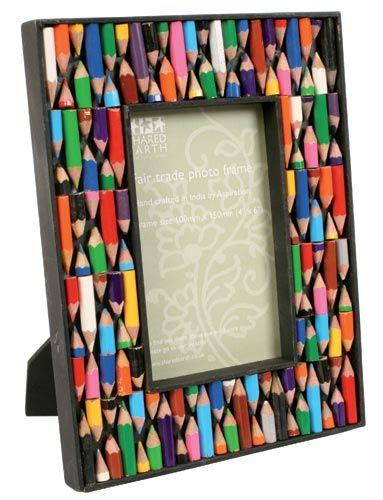 Crayon Frame Frames Pinterest Crayons Handicraft And Reuse