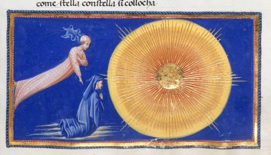 Dante's epic 14th-century poem the Divine Comedy - Italian manuscript produced only 125 years or so after Dante completed his poem