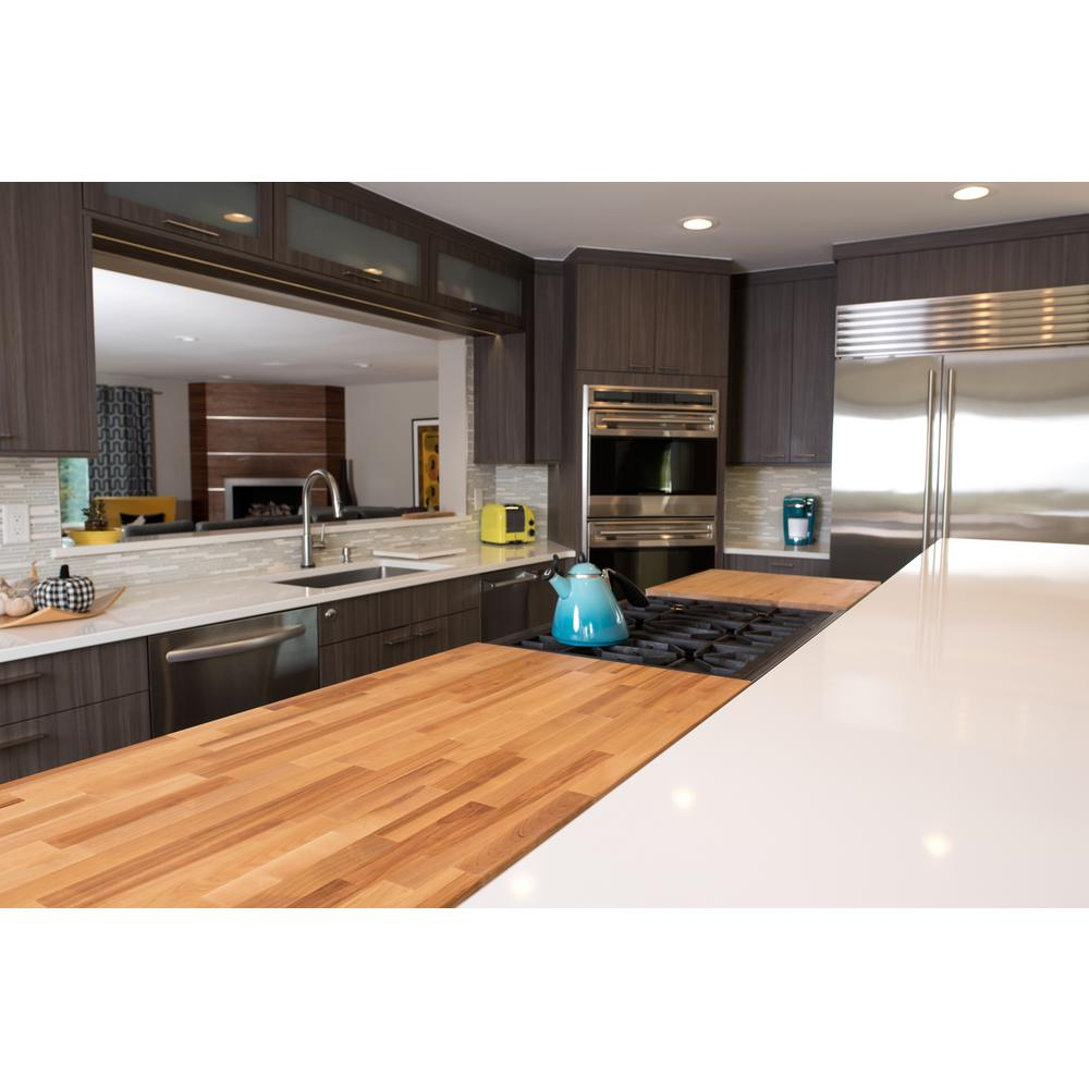 Hardwood Reflections 10 Ft L X 2 Ft 1 In D X 1 5 In T Butcher Block Countertop In Unfinished Birch 1525hdbbb 120 The Home Depot Butcher Block Countertops Butcher Block Butcher Block Countertops Kitchen