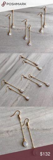COMING SOON! Moonstone Crystal Drop Earrings Dainty moonstone crystal drop earri…