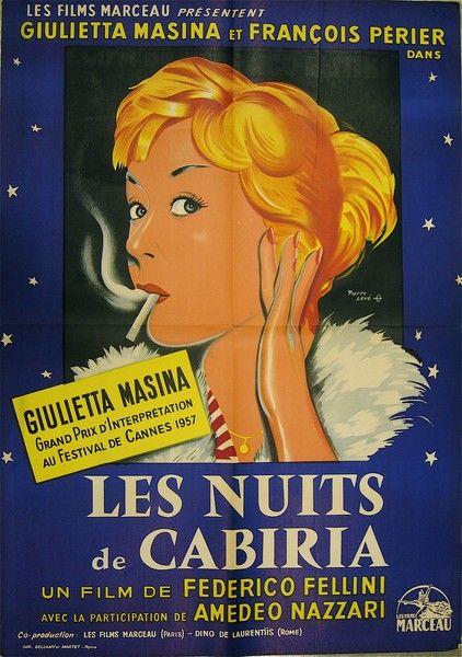 Nights of Cabiria | Film posters vintage, Movie posters, Movie posters vintage