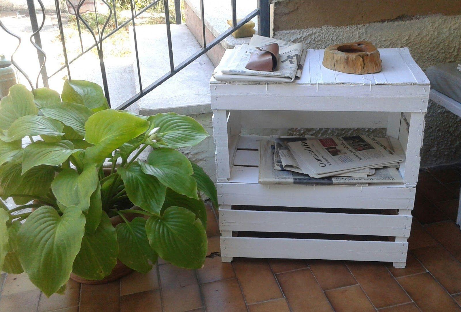 Centomilaidee tavolino con cassette per la frutta decorazioni