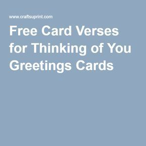Free card verses for thinking of you greetings cards words 4 free card verses for thinking of you greetings cards m4hsunfo