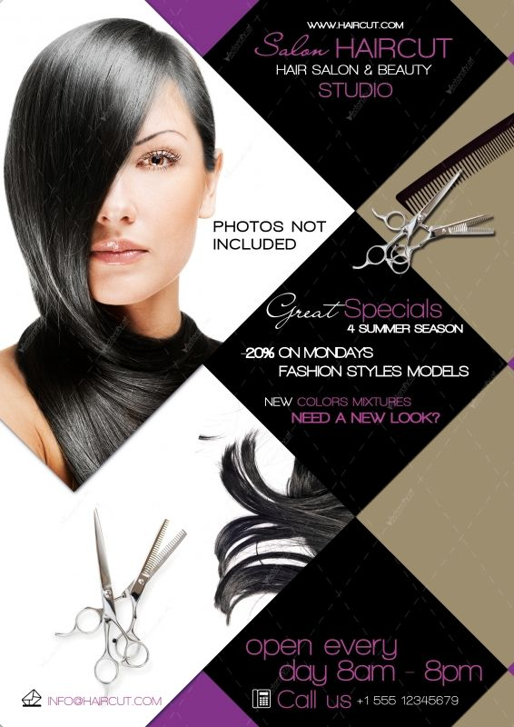 Graphic File  Hair Salon Flyer Psd  Marketing  Branding