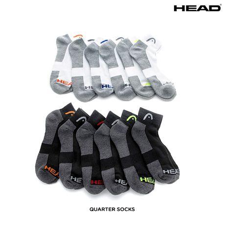 12 Pairs: Head Moisture-Wicking Socks - Assorted Styles at 75% Savings off Retail!