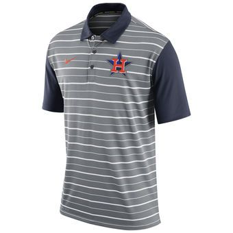 Nike Houston Astros Gray Dri-FIT Stripe Polo #astros #mlb #houston