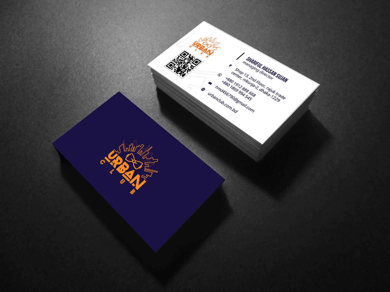 Urban Club Bangladesh Business Card Mockup Logos design