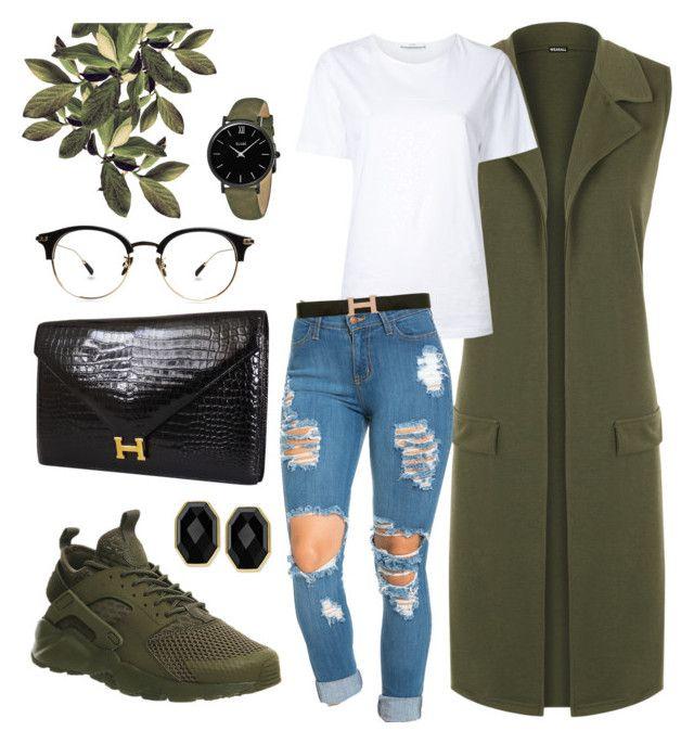 d1ed3c90c568f Olive Green Vest   Nike Huarache by sophistiratchet on Polyvore