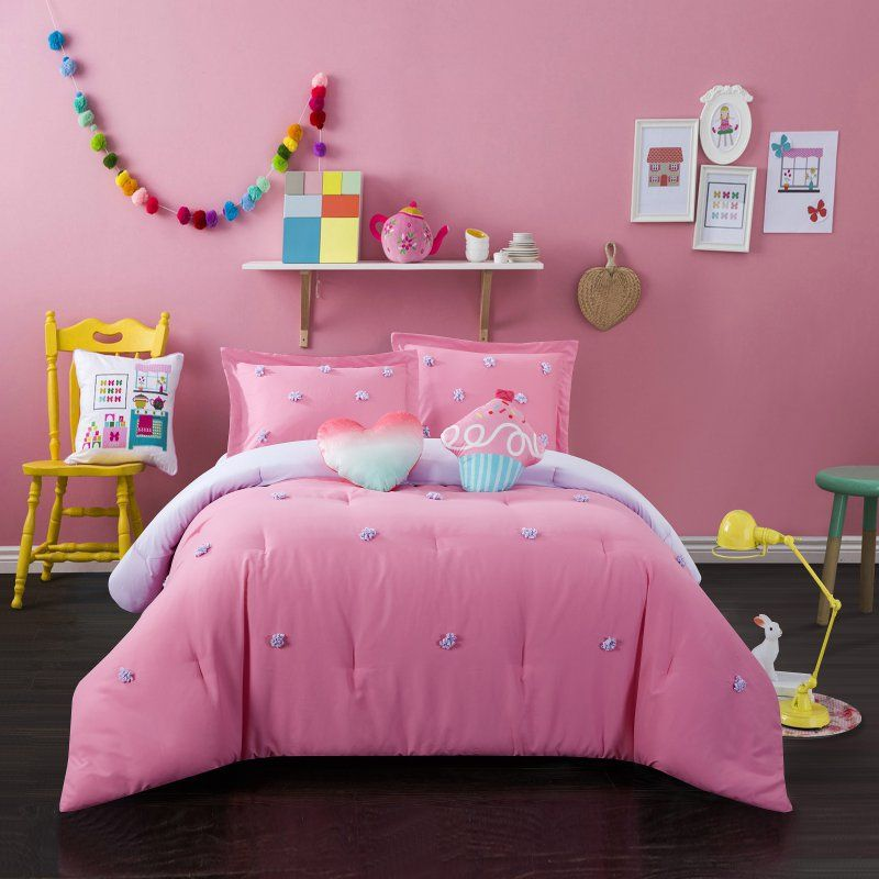 Kids Pom Pom Comforter Set By Better Homes And Gardens Pink