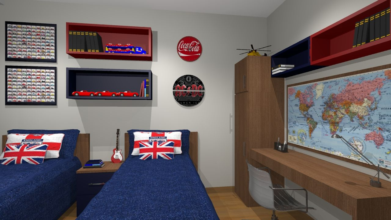 quarto azul marinho, branco e vermelho Pesquisa Google  ~ Quarto Solteiro Vermelho E Branco