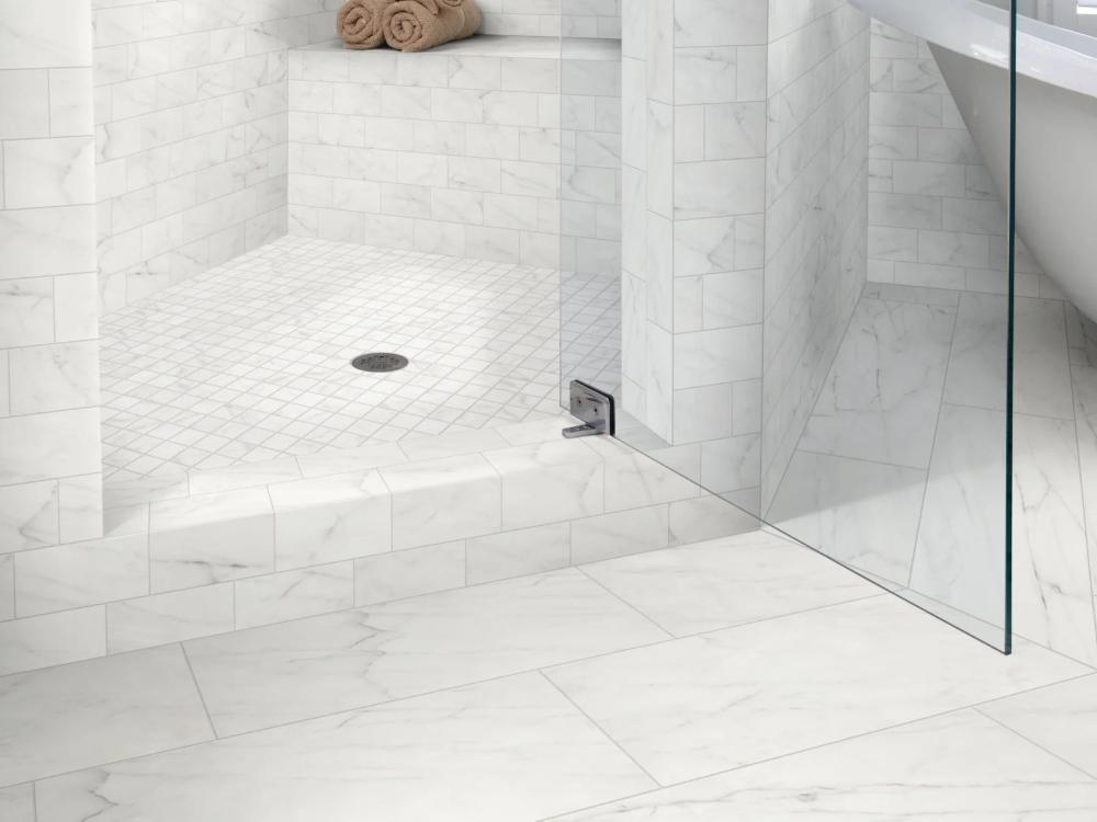 Shaw Cs16m Build Com In 2020 White Marble Bathrooms Carrara Tiles Tile Floor