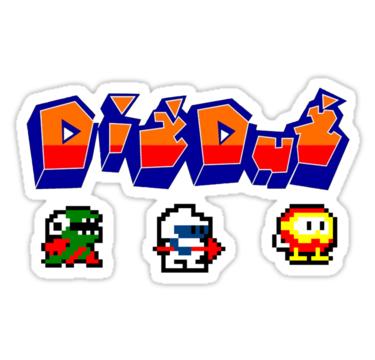 Dig Dug Sticker By 8bitclassics Dig Vinyl Sticker Stickers