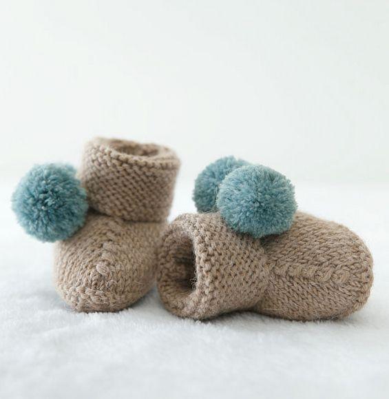 0-3 mois bébé garçons filles chapeau tricoté à la Main Rose Bleu Blanc Gris Citron