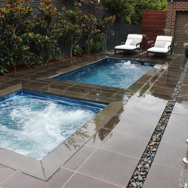 Endless Pool And Hot Tub Idea Maybe Prefab Combo With Cover For Both Endless Pool Endless Pool Backyard Inground Swim Spas