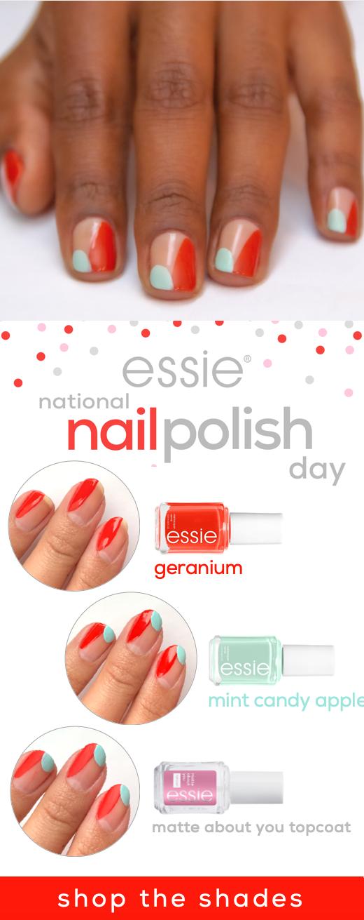 national nail polish day nail art idea