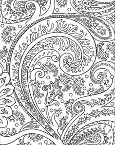 Paisley Coloring Pages for Adults Free Printable