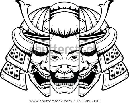 Samurai Png Image Japanese Tattoo Oni Mask Samurai Mask Tattoo