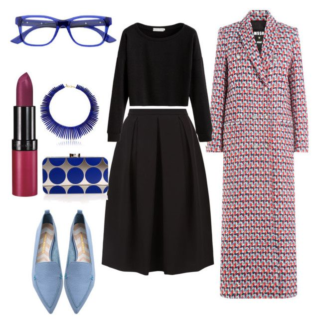 """""""Printed flats"""" by bezcablook on Polyvore featuring мода, Monsoon, Kenneth Jay Lane, MSGM, Rimmel, Nicholas Kirkwood, Manolo Blahnik и McQ by Alexander McQueen"""