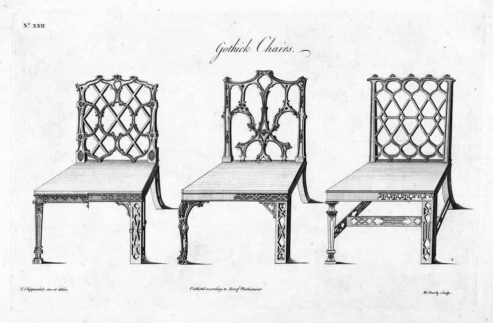 Chippendale Gothic chair | DIBUJOS DE MUEBLES | Pinterest ...