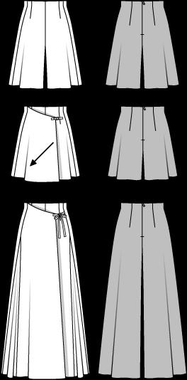 Hosenrock mit Wickeleffekt … | Kleidung…