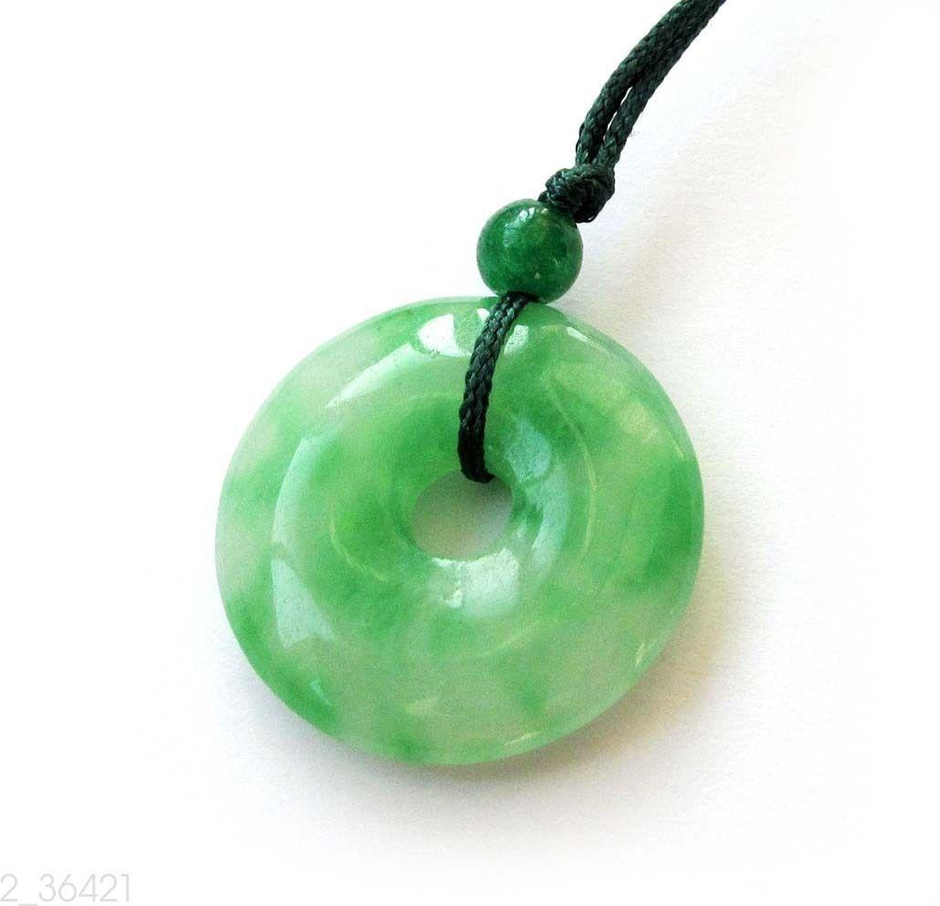 Green Jade Peace Buckle Circle Donut Amulet Pendant Talisman Happy ...