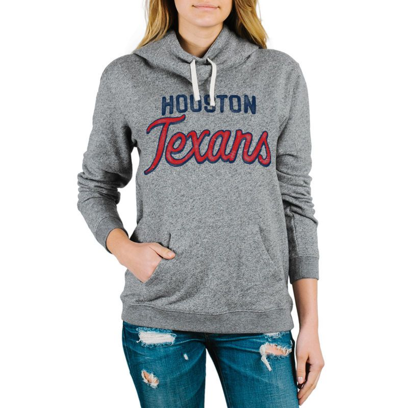 Houston Texans Junk Food Women's Sunday Pullover Hoodie - Steel
