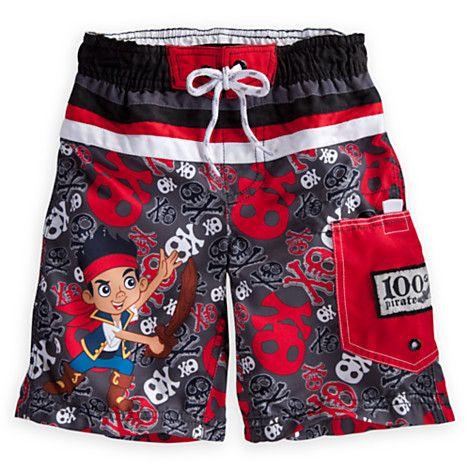 1dbac94c03643 Jake and the Never Land Pirates Swim Trunks   Boys cloths   Swim ...