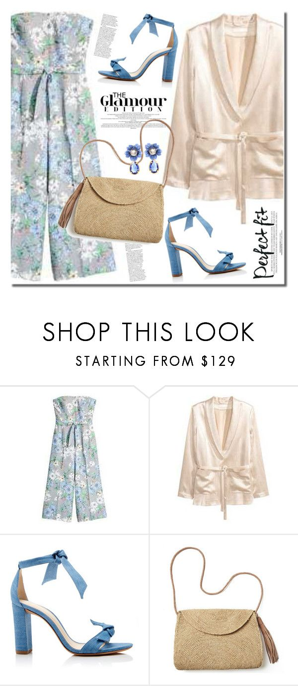 """HM floral jumpsuit"" by anne-irene ❤ liked on Polyvore featuring Alexandre Birman, Mar y Sol and Dolce&Gabbana"